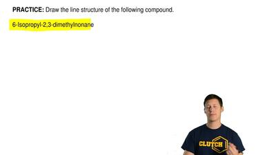 Draw the line structure of the following compound.  6-Isopropyl-2,3-dimethylno...