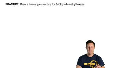 Draw a line–angle structure for 3–Ethyl–4–methylhexane. ...