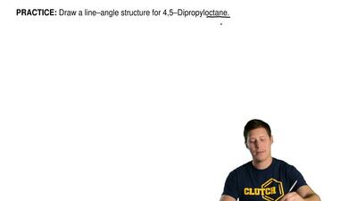 Draw a line–angle structure for 4,5–dipropyloctane. ...