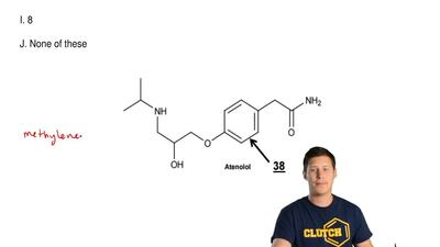 Look at the entire structure of Atenolol. How many methylene groups arepres...