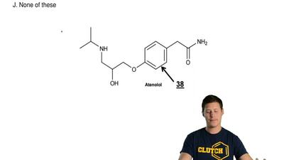 Look at the  entire structure of Atenolol. What is the  total number of sigma ...
