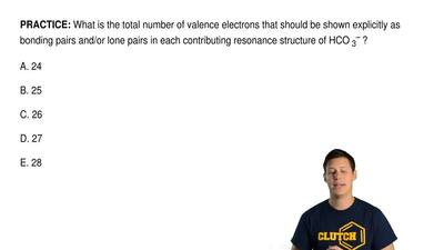 What is the total number of valence electrons that should be shown explicitly ...