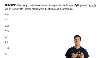 How many constitutional isomers having molecular formula C7H16 contain exac...