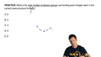 What is the  total number of electron groups  surrounding each nitrogen atom i...