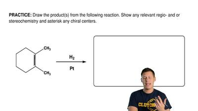 Draw the product(s) from the following reaction. Show any relevant regio- and...