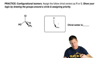 Assign the follow chiral centers as R or S.  Show your logic by drawing the gr...
