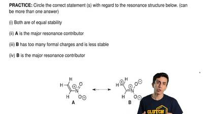 Circle the correct statement(s) with regard to the resonance structure below. ...