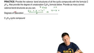 Provide the valence- bond structures of all the cyclic compounds with the form...