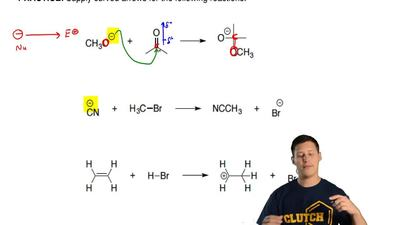 Supply curved arrows for the following reactions. ...