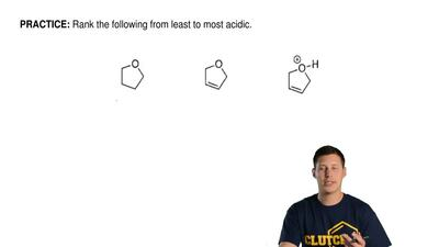 Rank the following from least to most acidic. ...