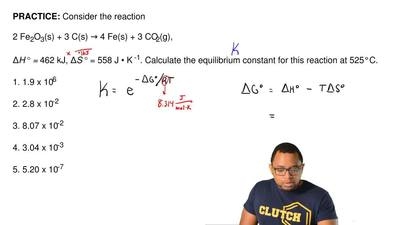 Consider the reaction  2 Fe2O3(s) + 3 C(s) → 4 Fe(s) + 3 CO2(g),  ΔH° = 462 kJ...