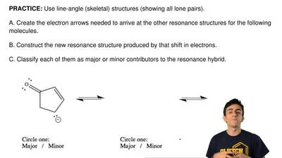 Use line-angle (skeletal) structures (showing all lone pairs).   A. Create the...