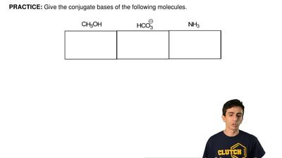 Give the conjugate bases of the following molecules. ...