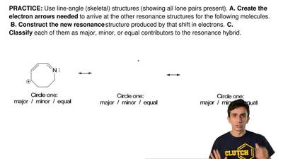Use line-angle (skeletal) structures (showing all lone pairs present).  A. Cre...