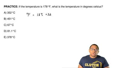 If the temperature is 178°F, what is the temperature in degrees celsius?  A) 3...