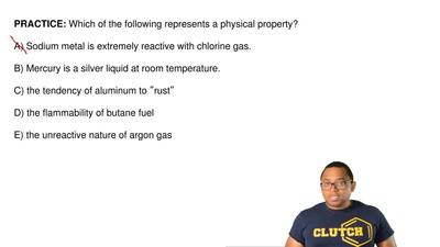 Which of the following represents a physical property?  A) Sodium metal is ext...