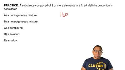 A substance composed of 2 or more elements in a fixed, definite proportion is ...