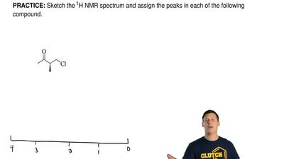 Sketch the 1H NMR spectrum and assign the peaks in each of the following compo...
