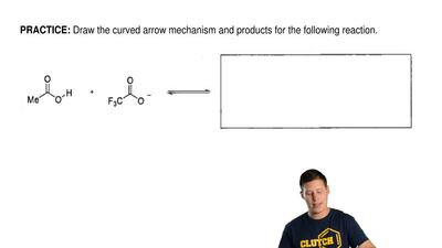 Draw the curved arrow mechanism and products for the following reaction. ...