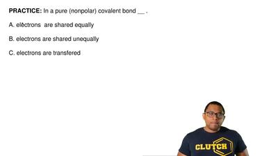 In a pure (nonpolar) covalent bond __ .  A. electrons are shared equally  B....