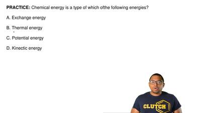 Chemical energy is a type of which of  the following energies?  A. Exchange en...