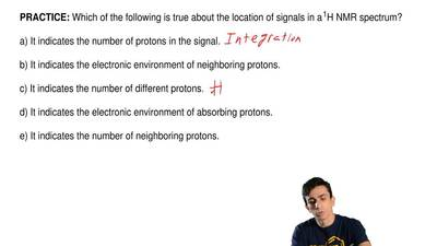 Which of the following is true about the location of signals in a 1H NMR spec...