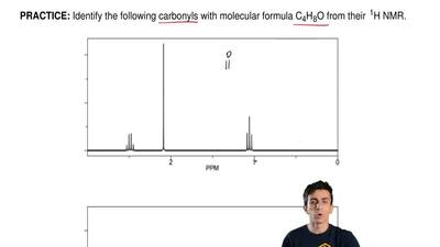 Identify the following carbonyls with molecular formula C4H8O from their 1H N...