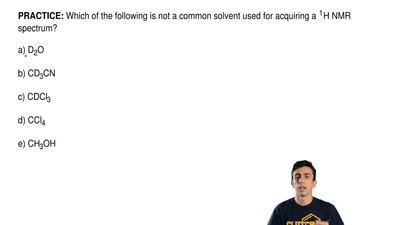 Which of the following is not a common solvent used for acquiring a1H NMR sp...