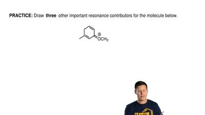 Draw three other important resonance contributors for the molecule below. ...