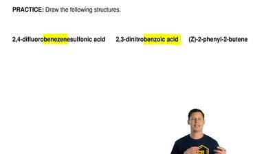 Draw the following structures.     2,4-difluorobenezenesulfonic acid       2,3...