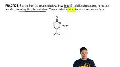 Starting from the structure below, draw three (3) additional resonance forms t...