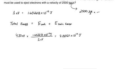 The work function for chromium metal is 4.37 eV. What wavelength of radiation ...
