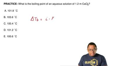What is the boiling point of an aqueous solution of 1.2 m CaCl2?  A. 101.8 ...
