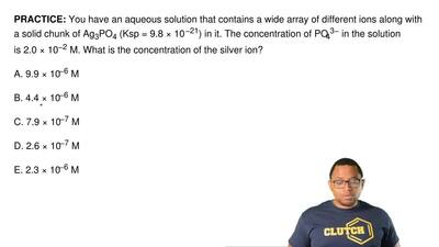 You have an aqueous solution that contains a wide array of different ions alon...