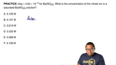 Ksp = 4.64 × 10−3for Ba(NO3)2. What is the concentration of the nitrate ion ...