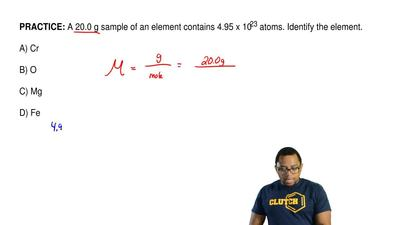 A 20.0 g sample of an element contains 4.95 x 1023 atoms. Identify the element...
