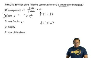 Which of the following concentration units is temperature dependent?  A. mass ...