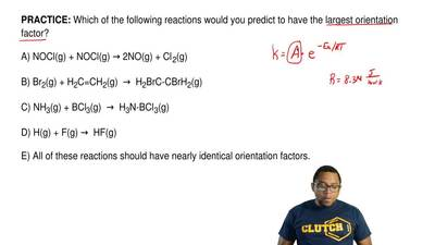 Which of the following reactions would you predict to have the largest orienta...