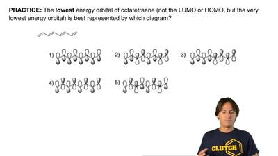 The lowest energy orbital of octatetraene (not the LUMO or HOMO, but the very ...