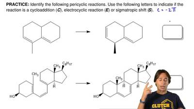 Identify the following pericyclic reactions. Use the following letters to indi...