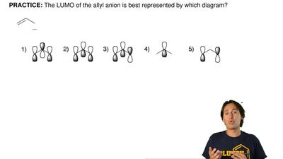 The LUMO of the allyl anion is best represented by which diagram? ...