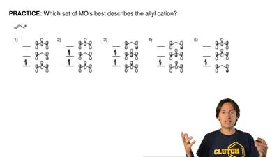 Which set of MO's best describes the allyl cation? ...