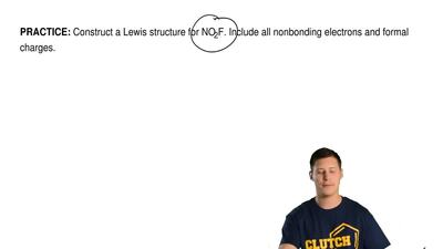 Construct a Lewis structure for NO 2F. Include all nonbonding electrons and fo...