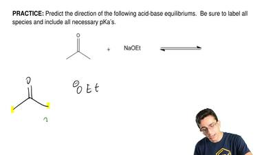 Predict the direction of the following acid-base equilibriums.  Be sure to lab...