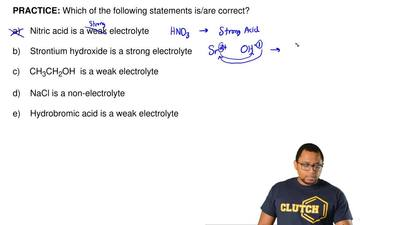 Which of the following statements is/are correct?   a)    Nitric acid is a wea...