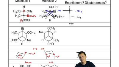 For each of the following pairs of molecules, indicate whether the two molecul...