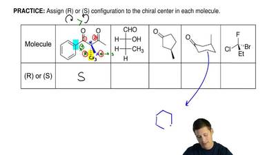 Assign (R) or (S) configuration to the chiral center in each molecule. ...