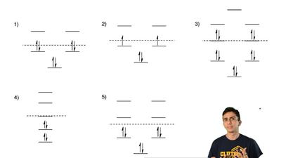 The MO diagrams of five compounds are shown below. Which one is anti-aromatic?...