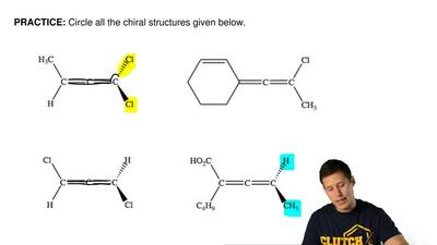 Circle all the chiral structures given below. ...