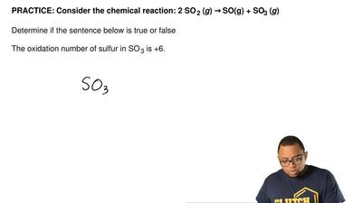 Consider the chemical reaction: 2 SO 2 (g) → SO(g) + SO3 (g)  Determine if the...